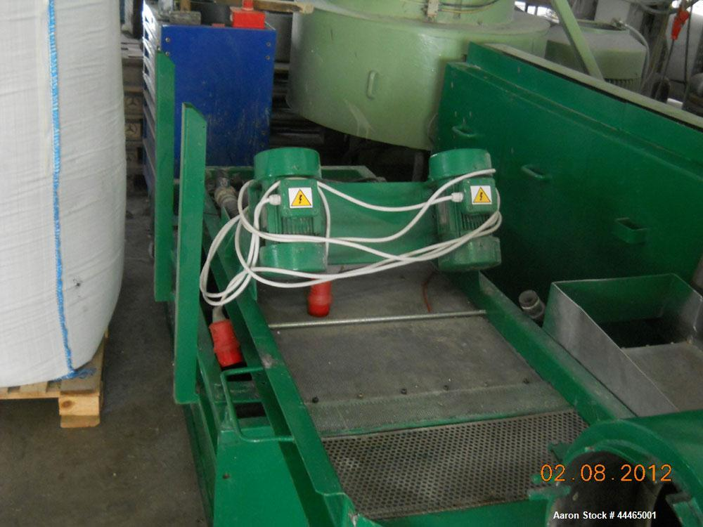 Used-Erema RGA 120E Recycling and Granulating Line for PE and PP, comprised of (1) conveyor belt; (1) RM 120 TE extruder, di...