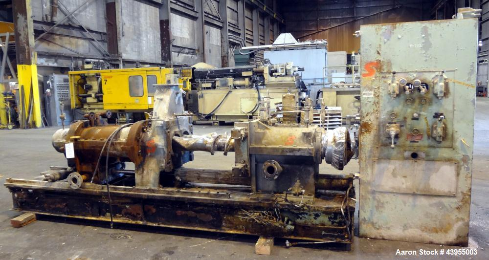 Used- Farrel Continuous Mixer, Model 9FCM. Approximate 1881 cubic inch mixing chamber, rated up to 10000 pounds per hour. Ja...