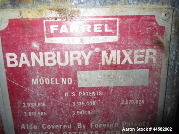 Used- Farrel Banbury Mixer, Model F270