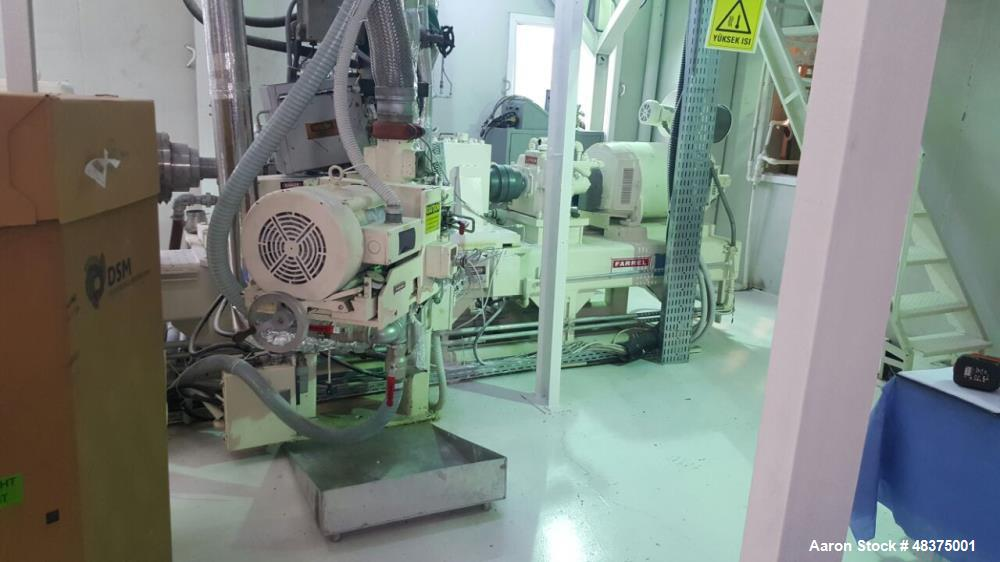 Used- Farrell Compounding System. Capacity of 1500 lbs./hr. (682 kgs/hr.)