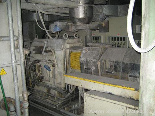 "Used-Maris TM 92 Compounding Line with a co-rotating twin screw extruder, 3.62"" (92 mm) screws, L/D 44, output 1323 - 2201 l..."