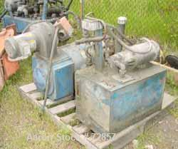USED: PVC compounding line consisting of: 1 Stewart Bolling spiral flow intensive mixer, model #4, double wing cored rotors,...