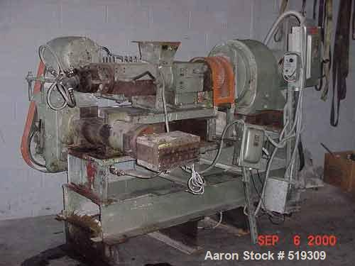"USED: Torrence Machine & Tool, Mokena IL, #4 continuous mixer with a 4.5"" dump extruder. (This unit is a copy of a Farrell.)..."