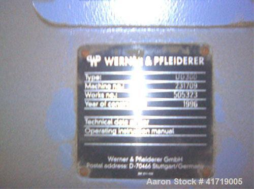 "Unused-Werner Pfleiderer Compounding Line. 10"" (250 mm) twin co-rotating screws for polyethylene material, 11 barrel section..."