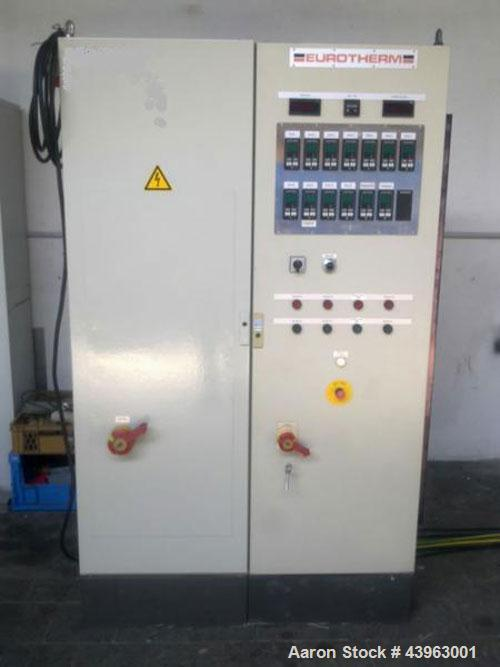 Used- Werner Pfleiderer ZSK 53 Compounding Line comprised of:  (1) twin screw extruder, L/D 2 x 53/44, maximum capacity 550 ...
