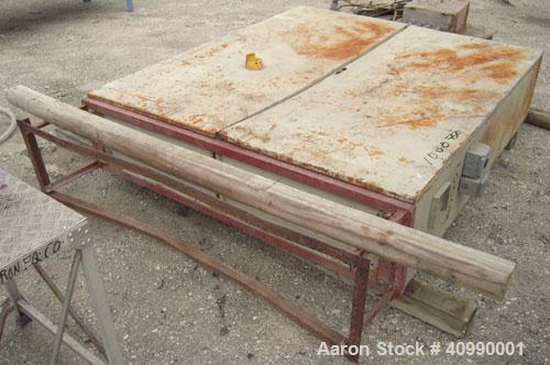 "Used- Densifier, Carbon Steel. Oval shaped bowl approximately 70"" long x 35"" wide x 40"" deep. (2) bottom blades, (1) driven ..."