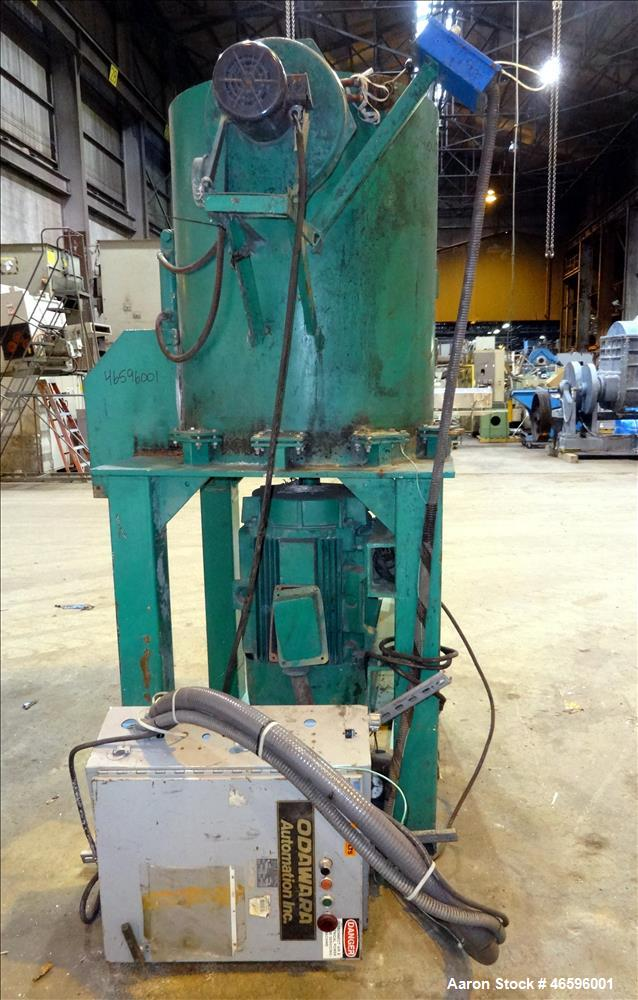 "Used- Odawara Automation Densifier, Carbon Steel. Approximate 38"" diameter x 46"" deep mixing chamber. Flat top with feed ope..."