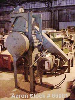 "USED: Pallman Plast-Agglomerator consisting of: 1 model PFV 250/60 agglomerator, carbon steel, 10"" inside diameter (11-1/4"" ..."