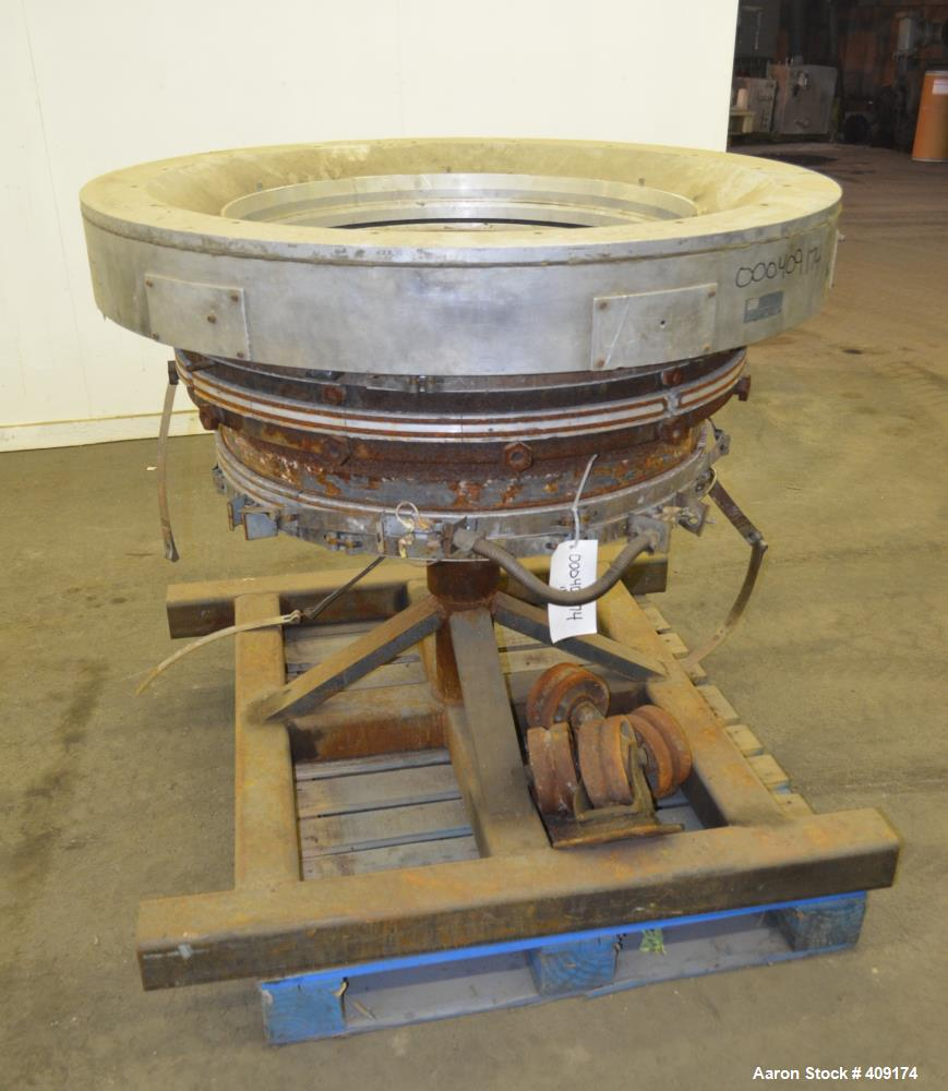 "Used- Gloucester Engineering Blown Film Die, Approximate 26"" diameter. Includes an air ring, and stand. No feed section."