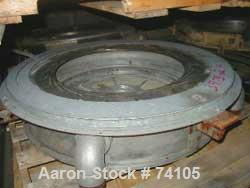 "USED: Kiefel 150mm single lip air ring 5.875"", 6.75"" ID, 4 input ports, non-rotating."