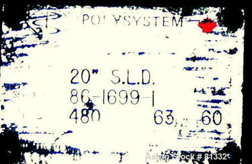 "USED: Polysystem 20"" single layer blown film die, model 20"" SLD"