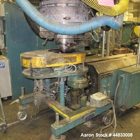 """Used-USED 16"""" O.D. WESTERN OSCILLATING BLOWN FILM DIE, ON WESTERN OSCILLATING CART. INCLUDES ADDEX DUAL LIP AIR RING."""