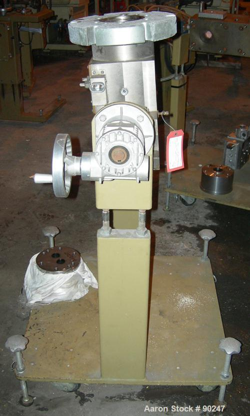 USED: Dual manifold adapter. Last used on a 92 mm twin screw extruder.