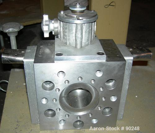 USED- Dual Manifold Adapter. Last used on a 92 mm twin screw extruder.