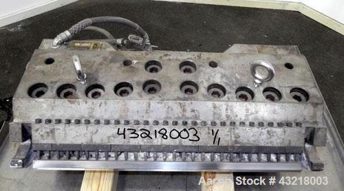 "Used- Allied Dies 28 Wide Flex Lip Sheet Die, Model ADRW, Job #99-1306-0102. No choker bar. 1"" Back center feed. 1/460 Volt."