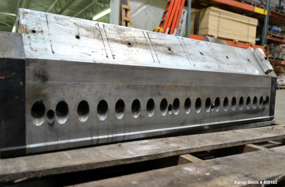 "Used- Black Clawson 40"" Wide Sheet Die, Size 300XL. Approximate 2"" back center feed."