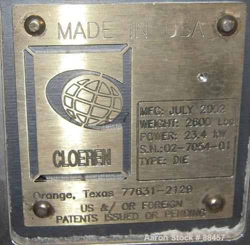 "Used- Cloeren 22"" Wide Manual 3 Layer Flex Lip Extrusion Die"
