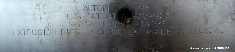 "Used- EDI 98"" Autoflex H40 Sheet Die."