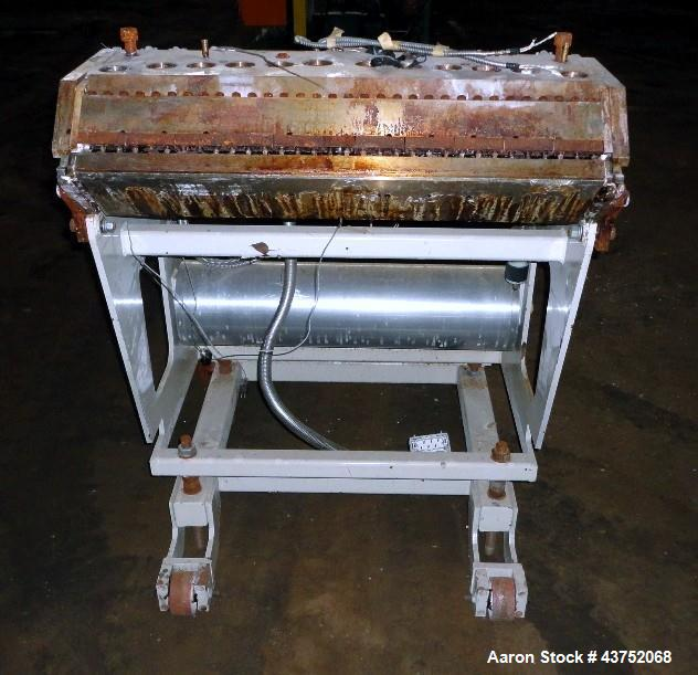 "Used- EDI 32"" Wide Flex Lip Sheet Die, Model H-75. Replaceable bottom lip, no chocker bar. Mounted on a cart. Serial# 93-155..."