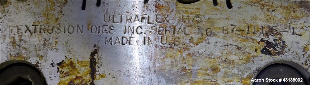 "Used- EDI 30"" Ultraflex HM75 Sheet Die. Back center feed.Rectangular feed good f"