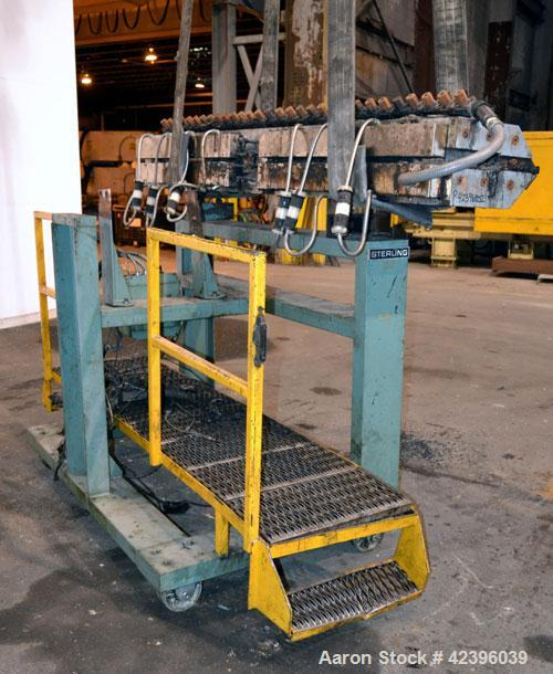 "Used- EDI 90"" Wide Extrusion Die, Model Ultraflex HR75. Job# 93-15194-1-2. Back center feed. Includes die stand."