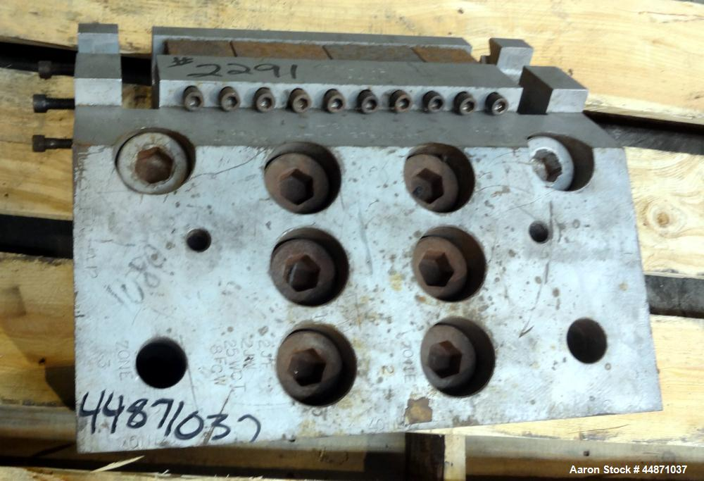 "Used- EDI 10.75"" Wide MasterFlex H-75 Sheet Die.  Back center feed.  Serial #0821-89, built 1989."