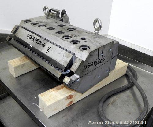 "Used- EDI Ultraflex H-75 20'' Wide Flex Lip Sheet Die. 1"" Back center feed. 1/480 Volt."