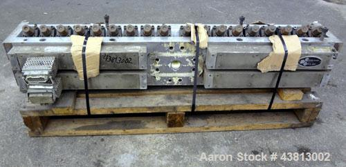 "Used- EDI 54"" Ultraflex Sheet Die, Model R-75. Approximately 1-1/2"" diameter back center feed.  Restrictor bar. Openings to ..."