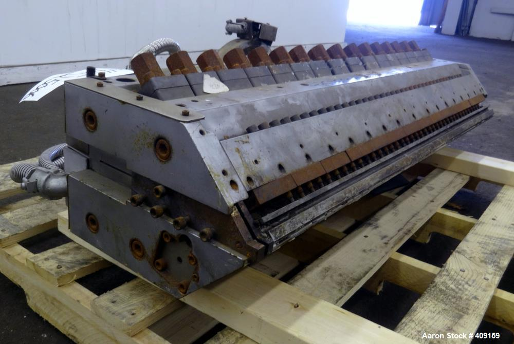 "Used- EDI 43.5"" Wide Sheet Die. Includes restrictor bar, and back center feed. Serial# 97-18890-1-2."