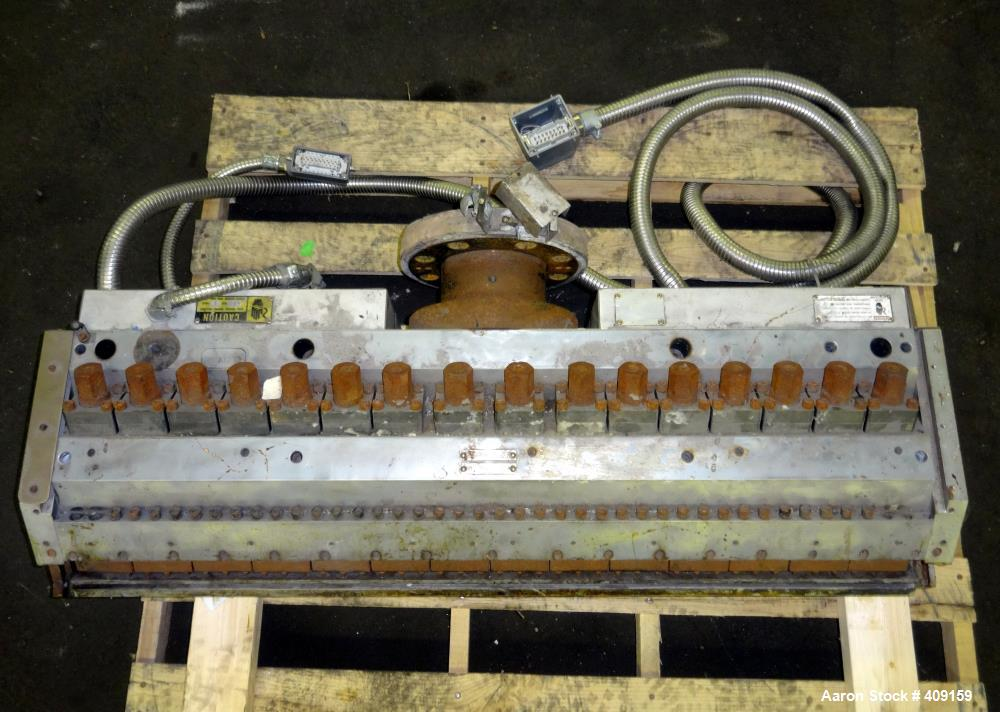 """Used- EDI 43.5"""" Wide Sheet Die. Includes restrictor bar, and back center feed. Serial# 97-18890-1-2."""