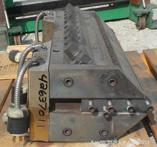 "Used- EDI 30"" Wide Sheet Die. Restrictor bar, 3/4"" back center feed."
