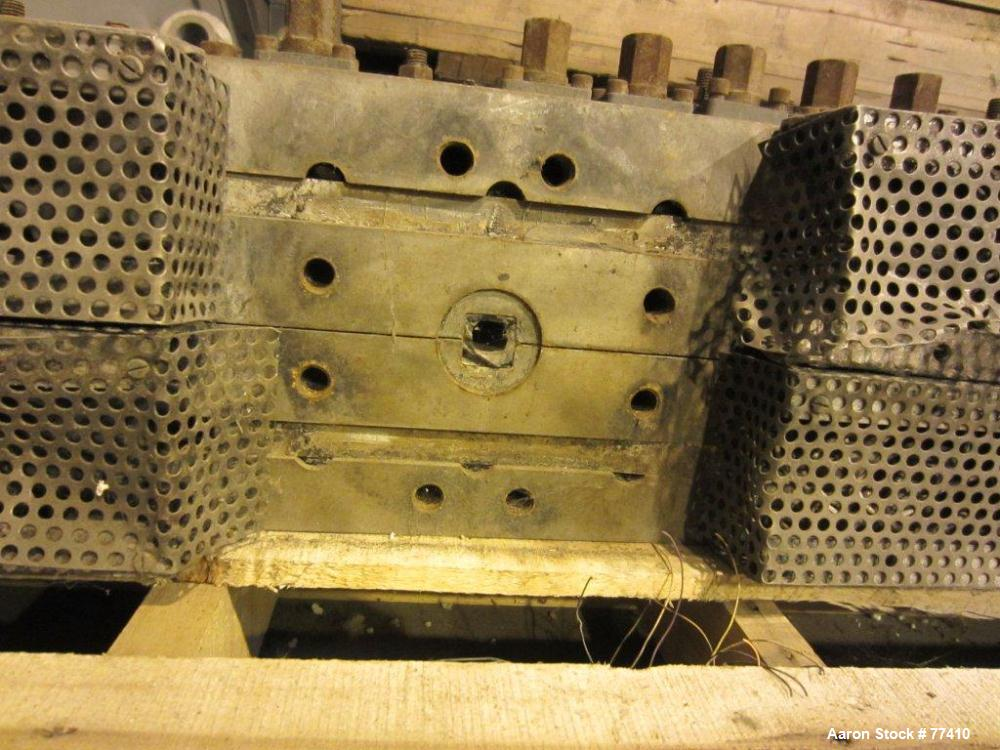 "USED: EDI 66"" wide H.D. sheet die. 3/4"" diameter back center feed."