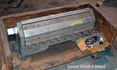 "USED: 30"" wide sheet die with restrictor bar, back center feed, electrically heated."