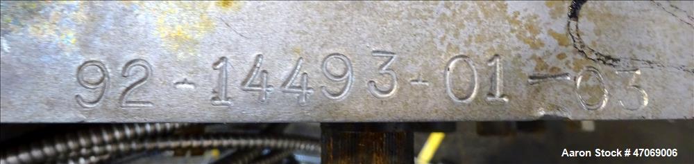 """Used- Egan 84"""" Wide Sheet Die. Back center feed. Serial# 92-14493-01-03."""