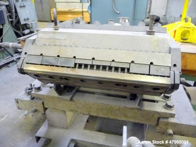 "Used- Johnson Sheet Die 24"" Wide. Includes (5) spare lips and die cart. Serial#1842-37. (6) total die lips included: (2) 001..."