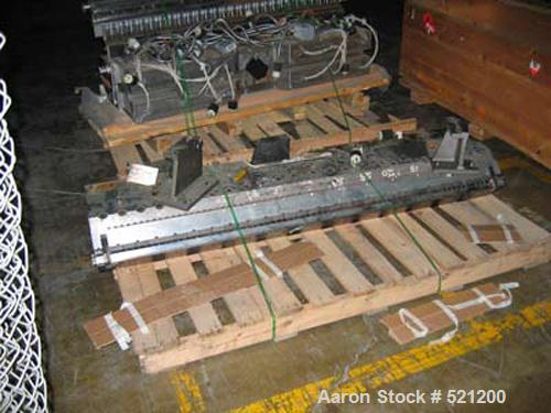 """USED: 68"""" Masterflex model OEHD-40 sheet die. 230 volts, single phase heaters, 1"""" square back center feed."""