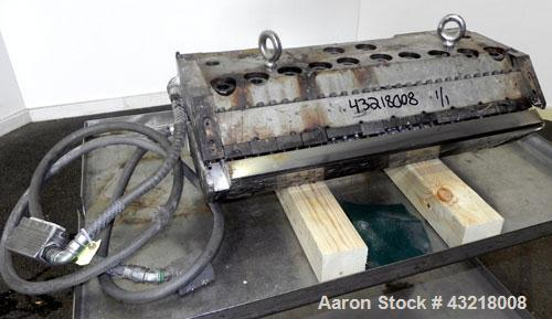 "Used- Production Components 28'' Wide Flex Lip Sheet Die, Model AD. 1"" Back center feed. 1/460 Volt,"