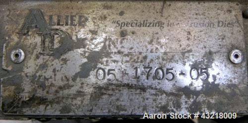 "Used- Allied Die 24'' Wide Flex Lip Sheet Die, Model AD. 1"" Back center feed. 1/460 Volt."