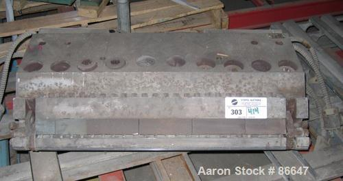 "Used- 24"" Flex Lip Sheet Die. Flexible lower lip, removable upper lip, with approximate .040"" to .060"" thickness range."
