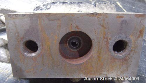 "Used- 6 Hole Strand Die, Carbon Steel. Approximate 1/2"" diameter back center feed."