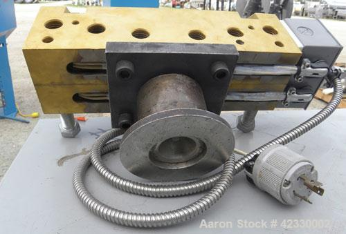 """Used- Sheet Die, 8"""" Wide. Back center feed."""