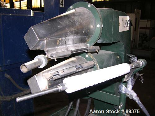"""USED: Industrial air knife, model AT8. 8"""" wide top and bottom lip, stainless steel contacts. Includes a 2 hp, 230/460 volt b..."""
