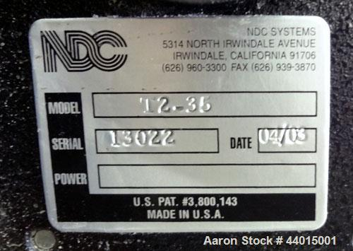 Used- NDC MM710 On-Line Foods Gauge, Model T2-35
