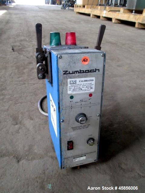 "Used- Zumbach Surface Fault Detector, Model KW20. 2.5"" Wide aperture with 2"" wide opening with idler rollers, serial #3003.1..."