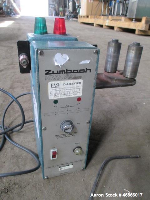 """Used- Zumbach Surface Fault Detector, Model KW20. 2.5"""" Wide aperture with 2"""" wide opening with idler rollers, serial #2709.1..."""