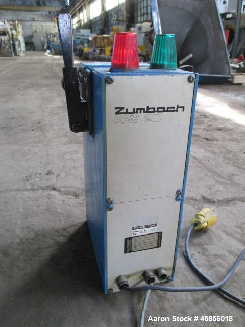 """Used- Zumbach Surface Fault Detector, Model KW20. 2.5"""" Wide aperture with 2"""" wide opening with idler rollers, serial #3002."""