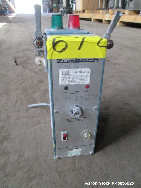 """Used- Zumbach Surface Fault Detector, Model KW20. 2.5"""" Wide aperture with 2"""" wide opening with idler rollers, serial #7142.0..."""