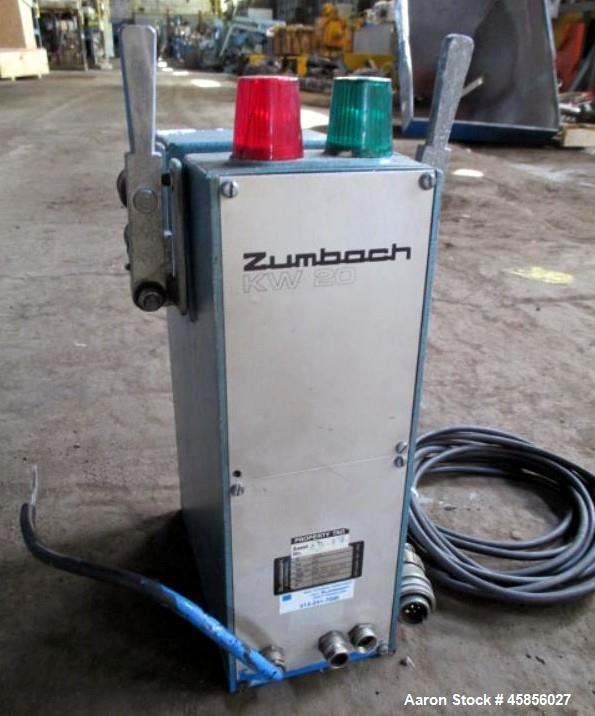 "Used- Zumbach Surface Fault Detector, Model KW20. 2.5"" Wide aperture with 2"" wide opening with idler rollers, serial #7234.0..."