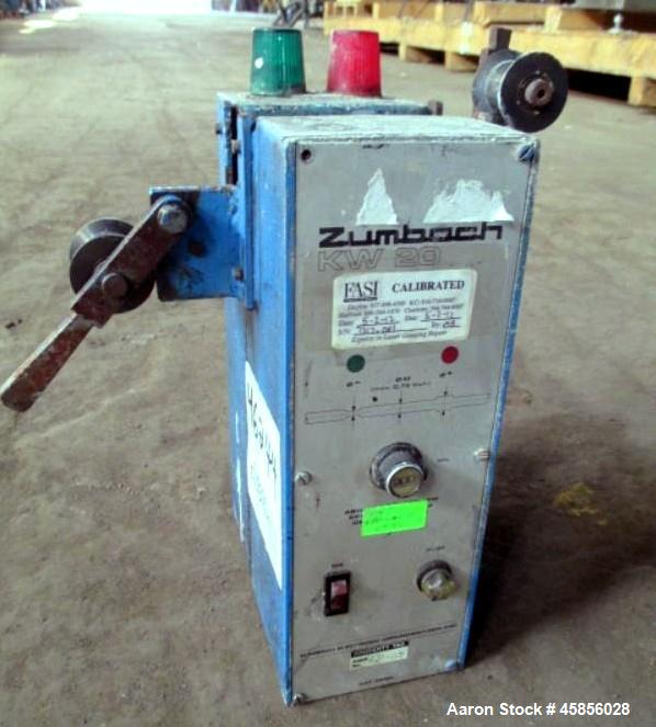 "Used- Zumbach Surface Fault Detector, Model KW20. 2.5"" Wide aperture with 2"" wide opening with idler rollers, serial #7317.0..."