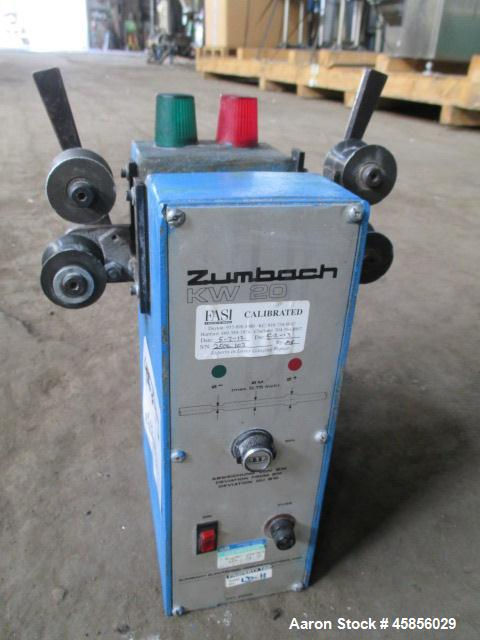 "Used- Zumbach Surface Fault Detector, Model KW20. 2.5"" Wide aperture with 2"" wide opening with idler rollers, serial #2506.1..."